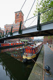 Colorful narrow boat Royalty Free Stock Image