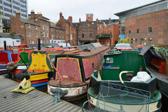 Colorful narrow boat Stock Images
