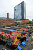 Colorful narrow boat Royalty Free Stock Photos