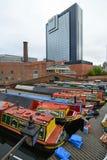 Colorful narrow boat Royalty Free Stock Photos