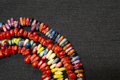 Colorful Native American Indian Corn Necklaces Stock Images