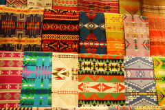Colorful Native American textiles Royalty Free Stock Photography