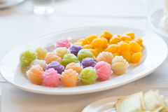 The Colorful native Thai style dessert Stock Photo