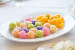 The Colorful native Thai style dessert Stock Photo