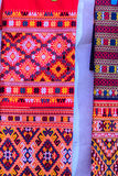 Colorful of native thai style silk and textiles pattern. Beautif Stock Images