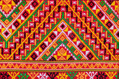Colorful of native thai style silk and textiles pattern. Beautif Royalty Free Stock Photography