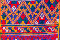 Colorful of native thai style silk and textiles pattern. Beautif Royalty Free Stock Images