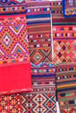 Colorful of native thai style silk and textiles pattern. Beautif Stock Image