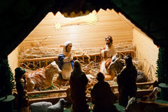 Colorful nativity scene Stock Photography