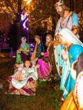 Colorful Nativity statues Royalty Free Stock Photos