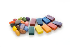 Colorful natural crayons Royalty Free Stock Photos