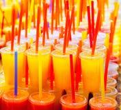 Colorful natural fresh fruits juice Royalty Free Stock Photo