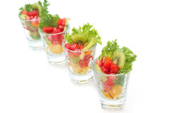 Colorful natural fruit salad Stock Images