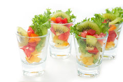 Colorful natural fruit salad Royalty Free Stock Images