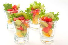 Colorful natural fruit salad Royalty Free Stock Photos