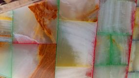 Gemstone Background. Colorful natural gemstone cubes background Stock Photo