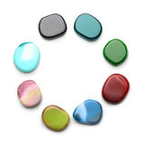 Colorful natural stones isolated Royalty Free Stock Images