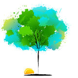 Colorful natural tree Stock Photo