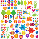 Colorful Nature Collection stock illustration