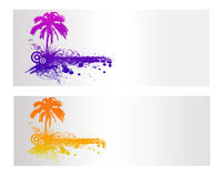 Colorful Nature Vector Banner. Colorful Nature and Palm Vector Banner Royalty Free Stock Image