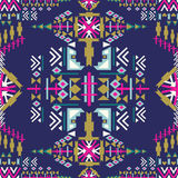 Colorful Navajo seamless pattern. aztec abstract geometric print. ethnic hipster backdrop. Aztec stile, tribal art. Used for wallp Stock Images