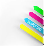 Colorful navigation  arrows Royalty Free Stock Image