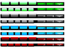 Colorful navigation bar Stock Image