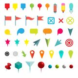 Colorful Navigation Pins.  on White. Vector Illustration Stock Photo