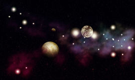 Colorful nebula background Stock Photos