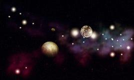 Colorful Nebula Background Stock Photos