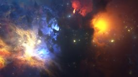 Colorful Nebula. Royalty Free Stock Photos
