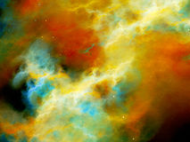 Colorful nebula with high energy plasma in space Stock Photography
