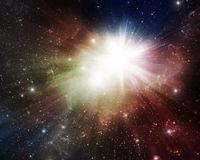 Colorful Nebulae and supernova. Colorful nebulae with supernova and stars Royalty Free Stock Photos