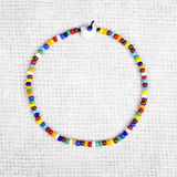 Colorful Necklace Made with Small Plastic Beads Stock Photos