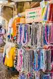 Colorful necklace on the market Royalty Free Stock Photography