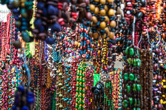 Colorful necklaces and jewelry at a market stal. L, Mexico Stock Images