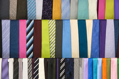 Colorful neckties hanging Royalty Free Stock Photo