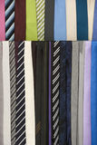 Colorful neckties hanging, fashion accessory Royalty Free Stock Photo