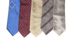 Colorful neckties isolated on white background. Royalty Free Stock Photography