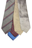 Colorful neckties isolated on white background. Stock Photography