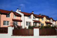 Colorful neighborhood Royalty Free Stock Photography