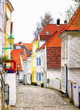 Colorful Neighborhood, Bergen Norway Stock Images