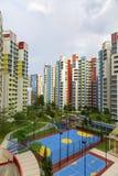 Colorful neighborhood estate Royalty Free Stock Photography