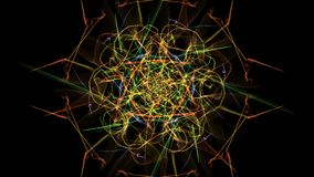 Colorful neon abstract symmetrical lights. Silk symmetry series royalty free illustration