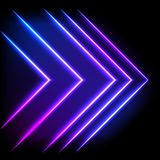 Colorful neon arrow background, abstract illustration. Colorful neon arrow background, vector abstract illustration Stock Photo