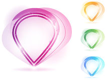 Colorful Neon Bubble Frame Stock Images