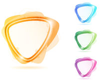 Colorful Neon Bubble Frame Triangle Stock Photo
