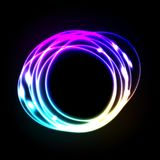 Colorful neon frame on a dark background Stock Image