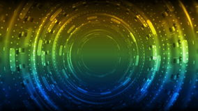 Colorful neon glowing tunnel technology video animation. Colorful neon glowing tunnel technology motion design. Video animation Ultra HD 4K 3840x2160 stock footage