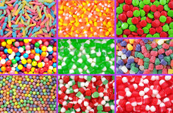 Colorful neon gummy candies Royalty Free Stock Image